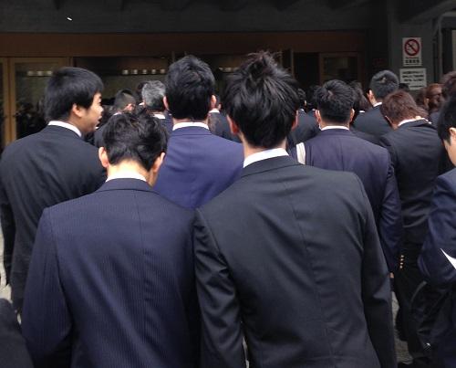 大学の入学式