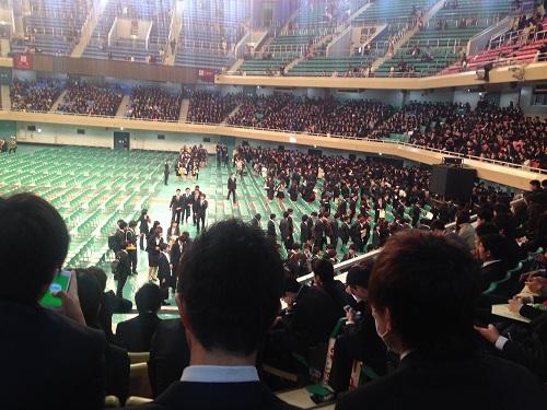 大学の入学式2