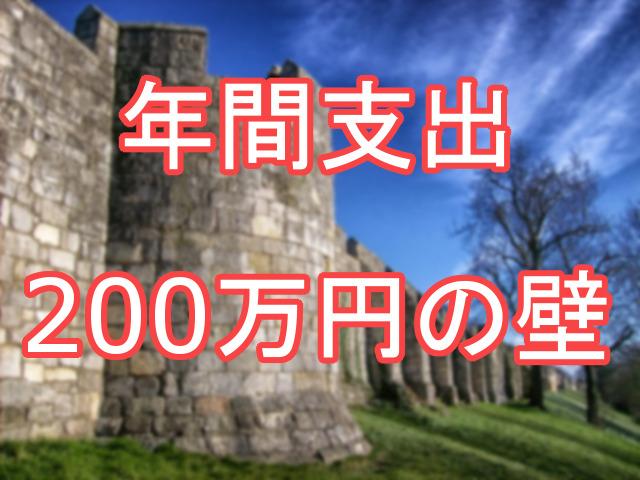 年間支出200万円の壁 大学生