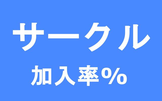 サークル 加入率